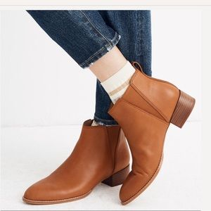 {Madewell} Carina Boot in English Saddle Size 7.5